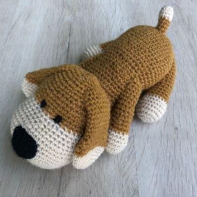 doudou-tricot-crochet-Rouky-chien-3